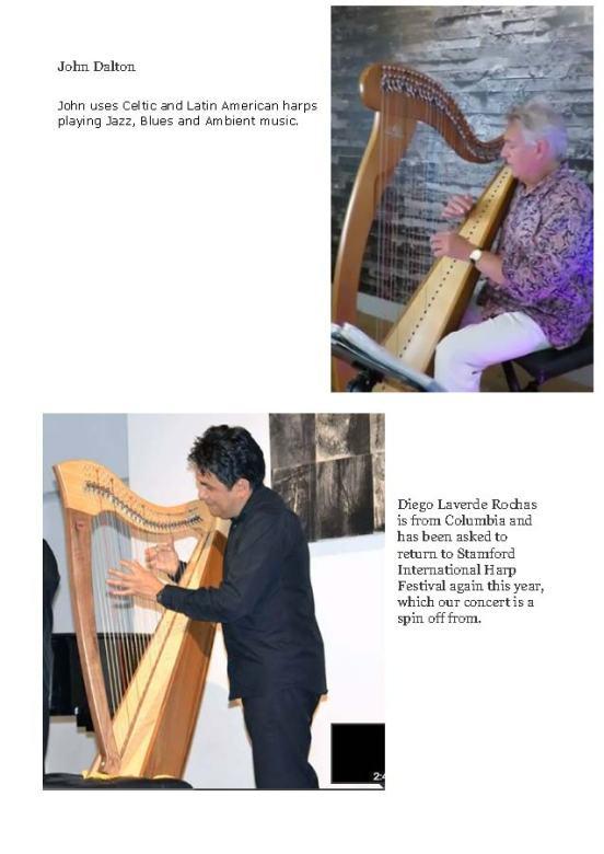 Harp concert publicity
