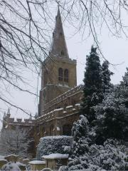 St Mary's in the snow (east)