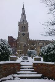 St Mary's in the snow (south)
