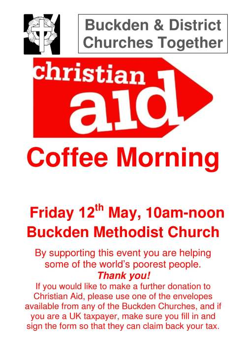 Christian Aid Coffee morning poster