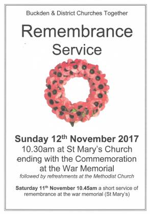Remembrance Day Service Poster