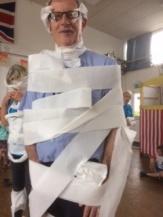 Rev Jes as a mummy