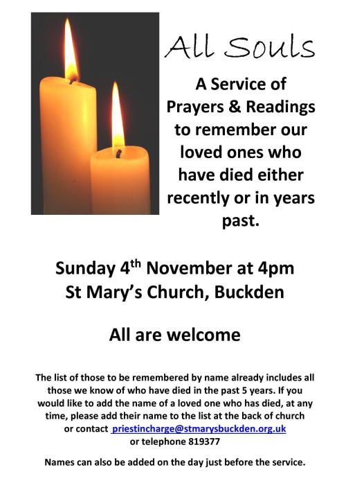 All Souls poster Buckden1