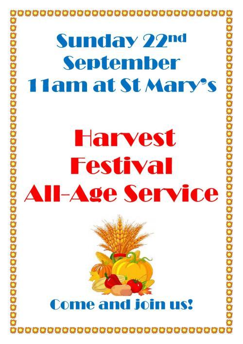 harvest festival Service Poster1