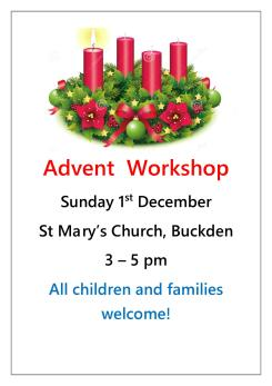Advent Workshop poster1
