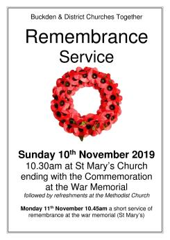 Remembrance Day Service Poster (Buckden)1