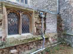 Attachment B - Stripped vestry wall - removed and retained windows