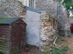 Attachment C - Stripped vestry wall - removed doorway and buttress