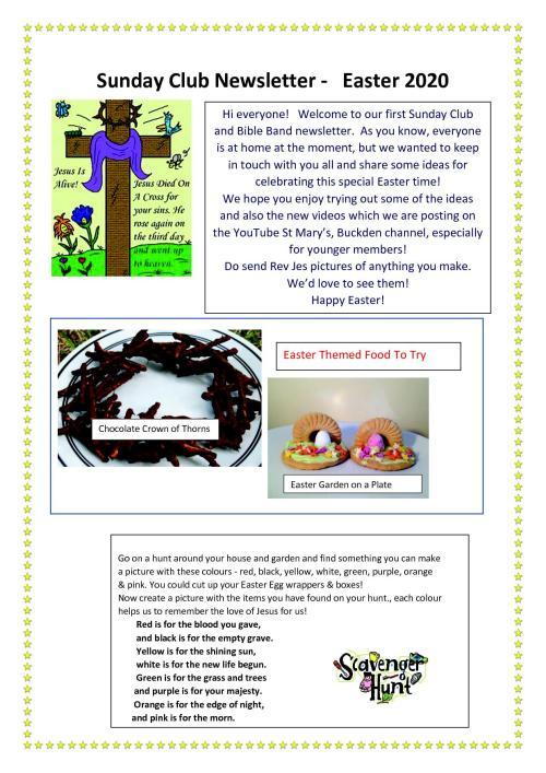 Sunday Club Newsletter - Easter1